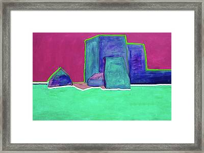 The Green Line By Nixo Framed Print