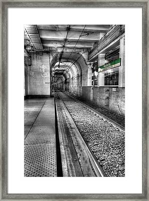 The Green Line Framed Print by JC Findley