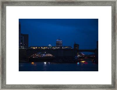 The Green Line Rumbling Past The Pru Framed Print by Toby McGuire