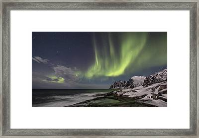 The Green Magic From The Sky Framed Print by Thomas Berger