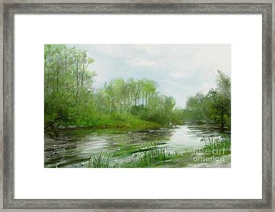 The Green Magic Of Ordinary Days Framed Print