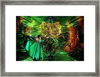 The Green Magician Framed Print