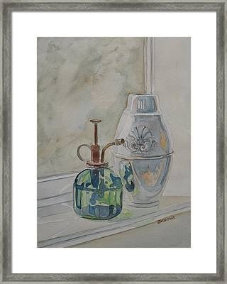 The Green Mister Framed Print by Jenny Armitage