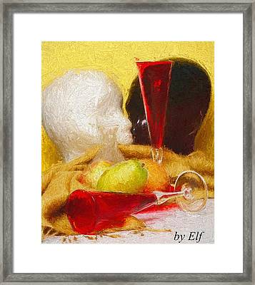 The Green Pear Framed Print
