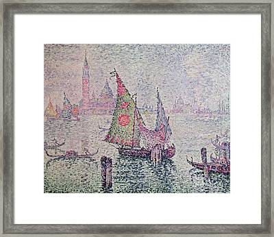 The Green Sail Framed Print