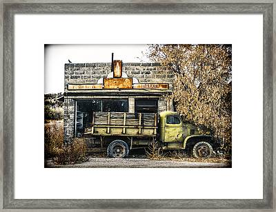 The Green Truck Grocery Market Framed Print