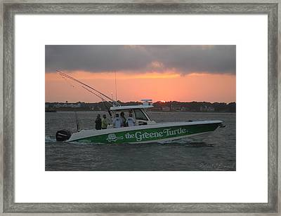 The Greene Turtle Power Boat Framed Print