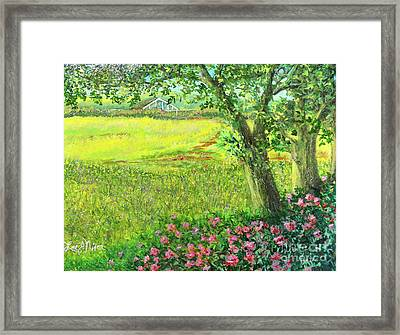 Framed Print featuring the painting The Greenhouse by Lee Nixon