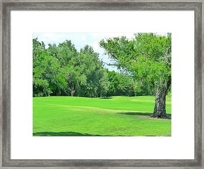 The Greens Call Framed Print by Florene Welebny