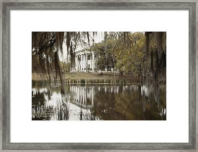 The Greenwoood Plantation Home Framed Print