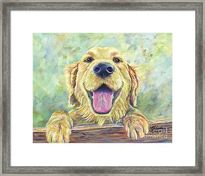 The Greeter Framed Print