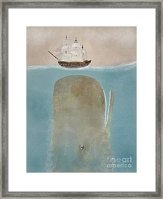 Framed Print featuring the painting The Grey Whale by Bri B