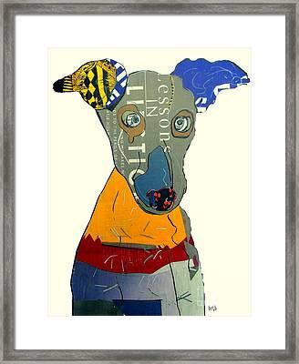 The Greyhound Dog Framed Print