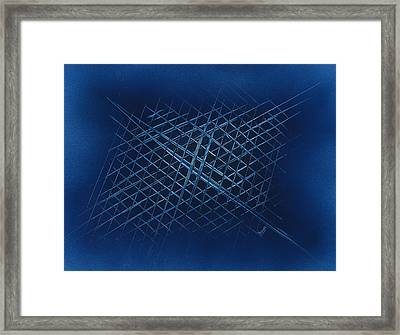 The Grid Framed Print by Jason Girard