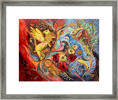 The Griffin Kingdom Framed Print by Elena Kotliarker