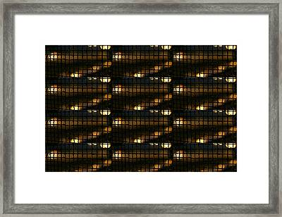 The Grill That Separates The Poor And The Rich Of Mumbai Sin City Of India Framed Print by Navin Joshi