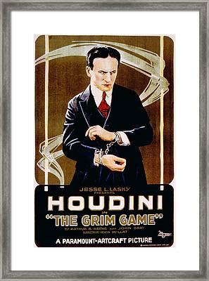 The Grim Game, Harry Houdini, 1919 Framed Print by Everett