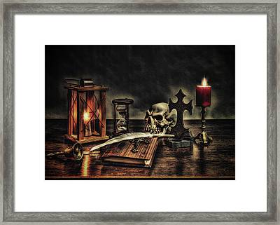 The Grim Reapers Diary Framed Print by Hans Zimmer