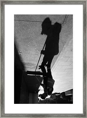 The Grim Sweeper Framed Print