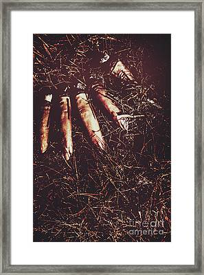 The Grindcore Axeman Got Fingered Framed Print by Jorgo Photography - Wall Art Gallery