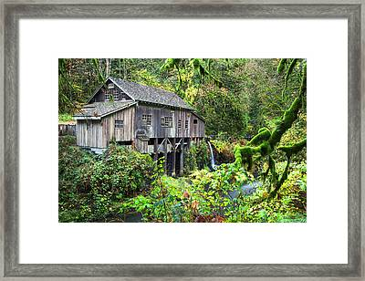 The Grist Mill, Amboy Washington Framed Print