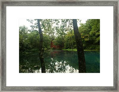 The Grist Mill At Alley Springs Framed Print