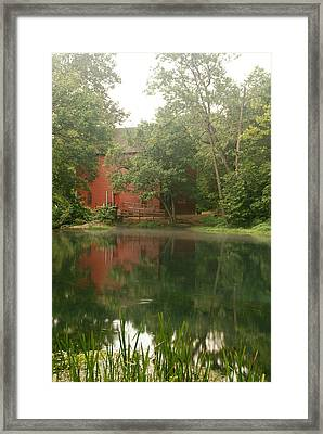 The Grist Mill At Alley Springs Take 3 Framed Print