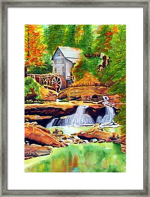 The Grist Mill Framed Print by Gerald Carpenter