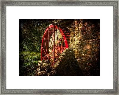 The Gristmill's Waterwheel Framed Print