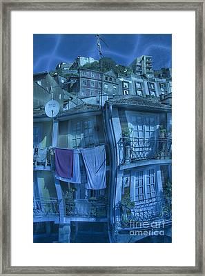 The Groggy Blue House Framed Print