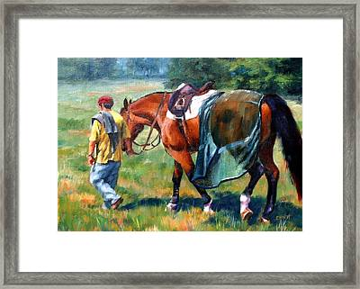 The Groom Framed Print by Elaine Hurst