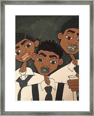 The Groomsmen Framed Print