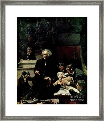 The Gross Clinic Framed Print by Thomas Cowperthwait Eakins