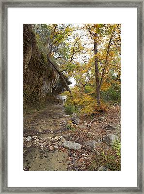 Lost Maples The Grotto Framed Print by Mike Brymer