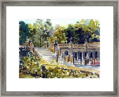The Grotto Steps Framed Print by Chris Coyne
