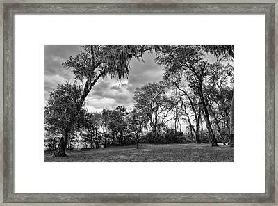 The Grounds Of Fort Caroline National Memorial Framed Print by John M Bailey