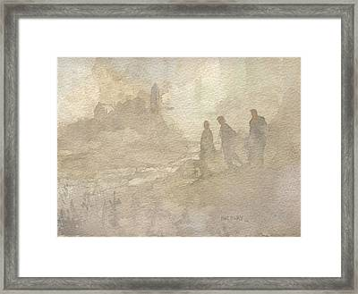 The Group Comes Out Of The Wilderness Framed Print