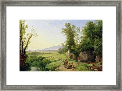 The Grove Of Egeria  Framed Print by Franz Ludwig Catel