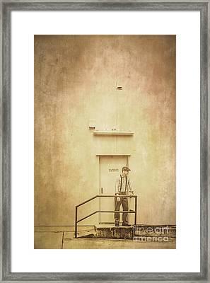 The Grunge Years. Vintage Paper Background Framed Print