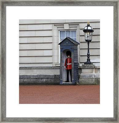 The Guard At Buckingham Palace Framed Print