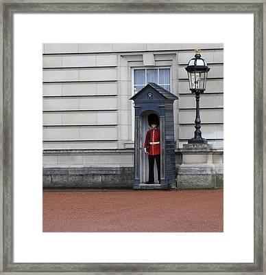 The Guard At Buckingham Palace Framed Print