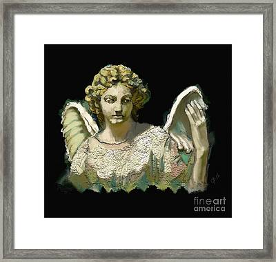 The Guardian Angel Framed Print by Carrie Joy Byrnes