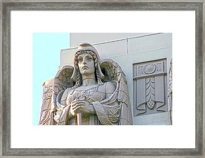 The Guardian Angel On Watch Framed Print