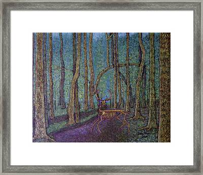 The Guardian Of The Forest Framed Print