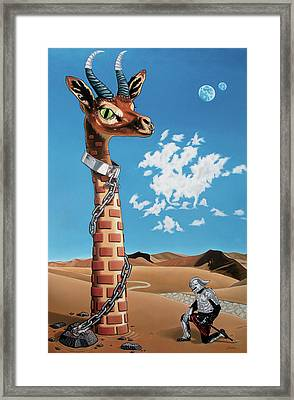 Framed Print featuring the painting The Guardian by Paxton Mobley