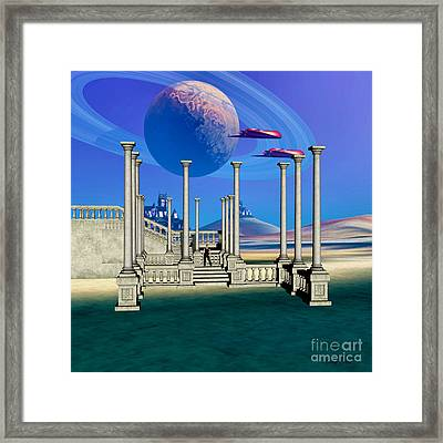 The Guardian Planet Framed Print by Corey Ford