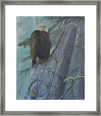The Guardian Framed Print by Tahirih Goffic