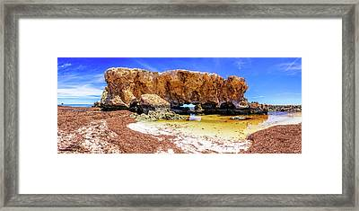 Framed Print featuring the photograph The Guardian, Two Rocks by Dave Catley