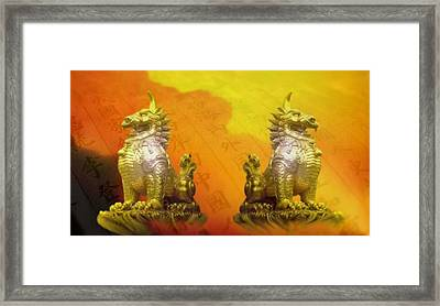 The Guardians Framed Print by Norman Reutter