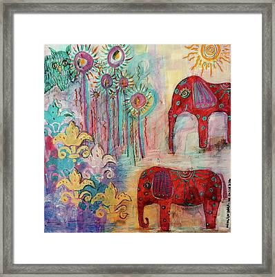 Framed Print featuring the mixed media The Guardians Of Night And Day by Mimulux patricia no No